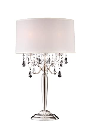 Contemporary Silver Table Lamps: Modern Contemporary Crystal Silver Table Lamp,Lighting