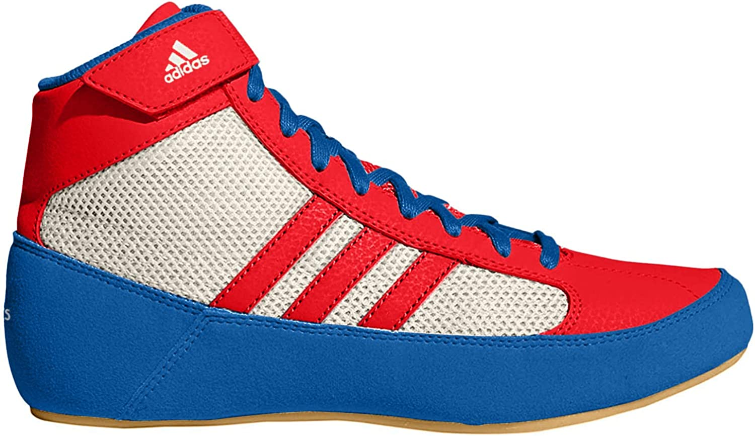 última selección de 2019 precio de calle talla 40 Amazon.com | adidas HVC 2 Youth Laced Wrestling Shoes - Blue/Red/White -  3.5 | Athletic