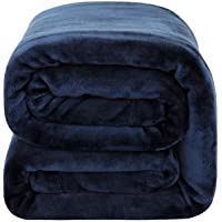 Bedsure Fleece Blanket Throw Size 350GSM - Soft Blankets for Bed All Season,50x60 Inches Navy Blue