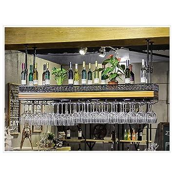 Botelleros para Vino Wine Rack Wine Glass Holder con Light Wood ...
