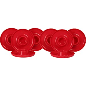GreatPlate GP-RED-8PK AZ Red Plate 8-Pack, 8 Red GreatPlates, Food Tray and Beverage Holder, Dishwasher Safe, Microwave Safe, Made in USA, Picnics, Parties, Tailgates, Appetizers, Great for Kids