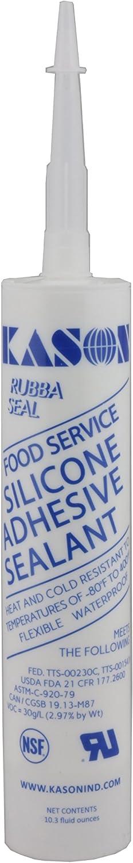 Kason 3700 Series Rubbaseal Silicone Sealant, Aluminum 10.3 oz. Tube, 63700000003