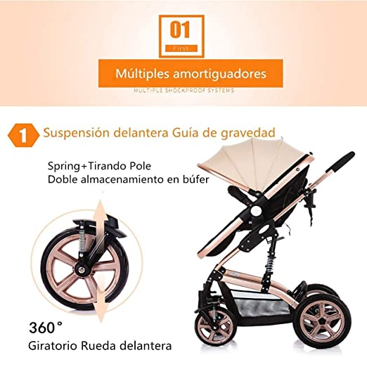 Amazon.com: PLDDY Standard Four Seasons Prams Fold High Landscape Toddlers Baby Pushchairs Bidirectional Newborn Strollers Suitable for Children 0-3 Years ...