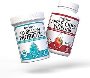 Probiotics 60 Billion CFU + Apple Cider Vinegar Capsules for Weight Loss Support