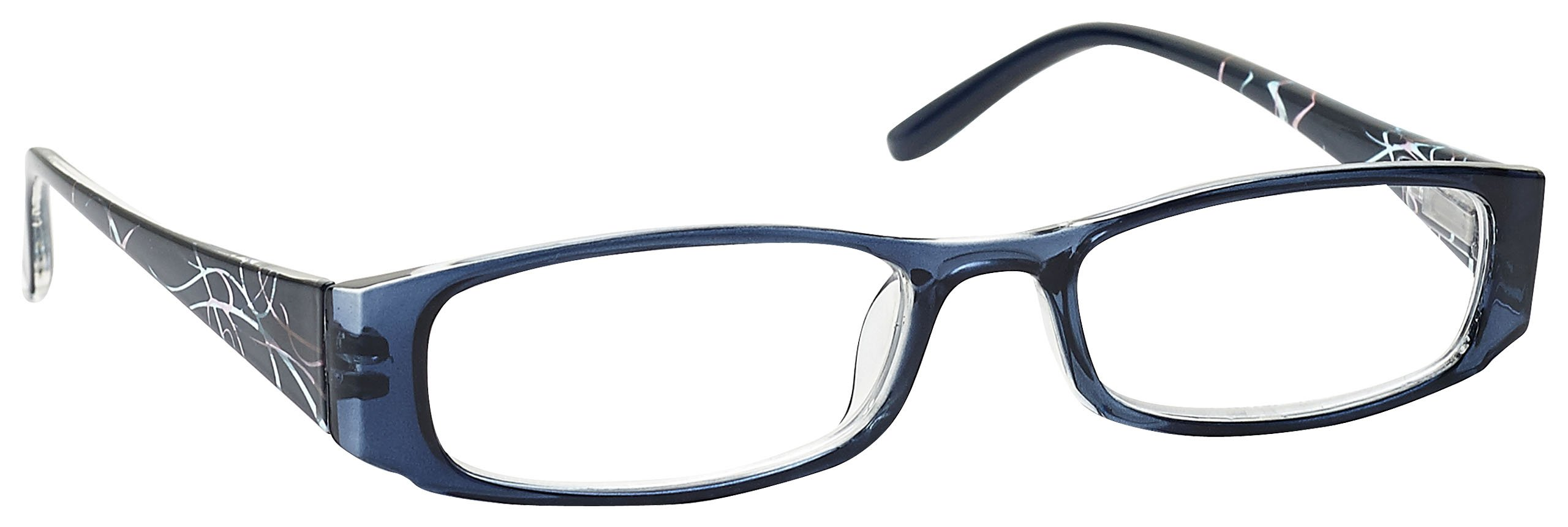 The Reading Glasses Company Navy Blue Patterned Lightweight Readers Designer Style Womens Ladies R74-3 +1.75