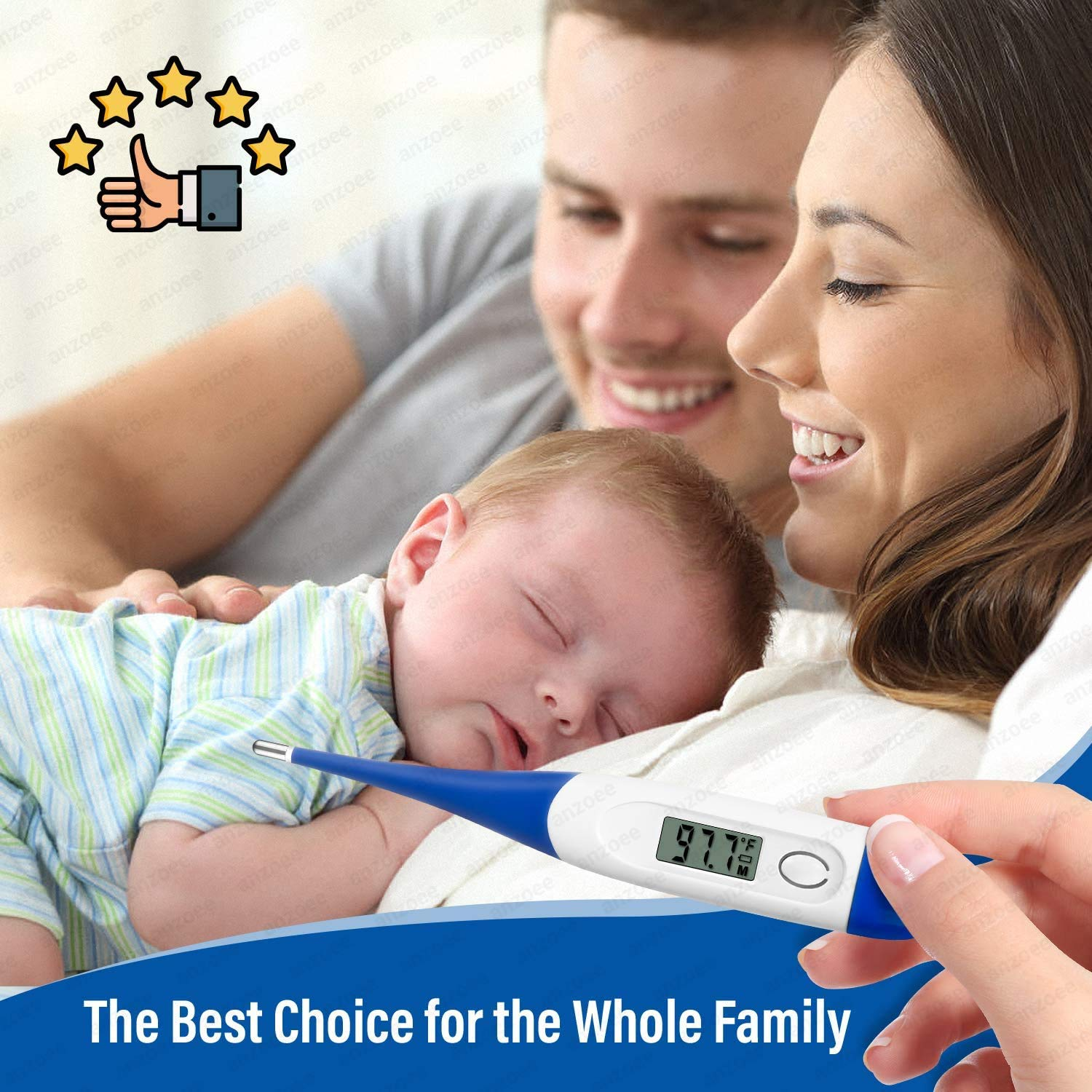 Oral Digital Thermometer Portable Fast Readings Temperature Meter with Accurate Measurement for Baby Kids Adults LCD Digital Thermometer