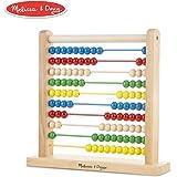 Melissa & Doug Ábaco, juguete de madera  clásico, juguete de desarrollo, bolitas de colores brillantes, 8 actividades de extensión, 30.226 cm alto x 30.48 cm ancho x 7.62 cm largo