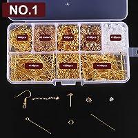 Walmeck Earrings Eardrop Jewelry Making Kit With Plier Jump Rings Findings DIY Making Tools Set NO.0