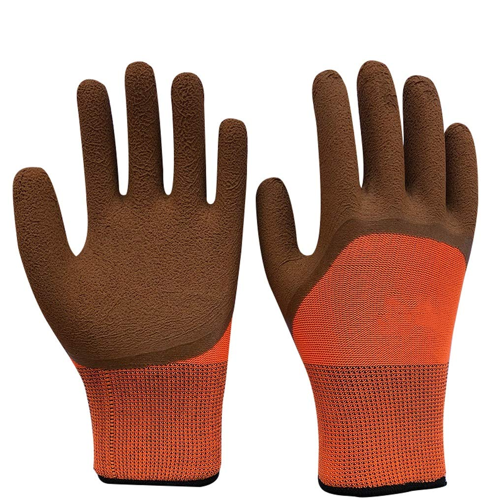 LZRZBH Industrial Gloves,Knit Wrist Cuff Work Gloves, for Precision Work, Waterproof Non-Slip Gloves,(red 12 Pairs) (Color : C)