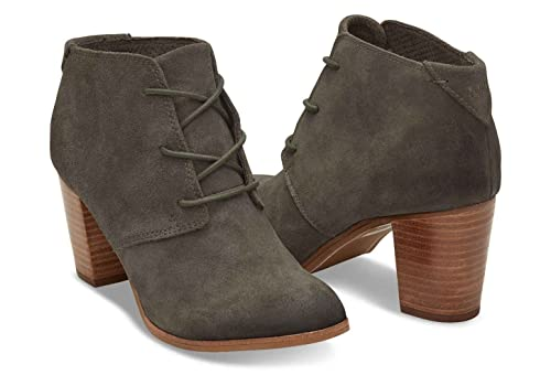 269269dde1b Toms Women s Lunata Lace-Up Tarmac Olive Burnished Suede Booties (6 ...