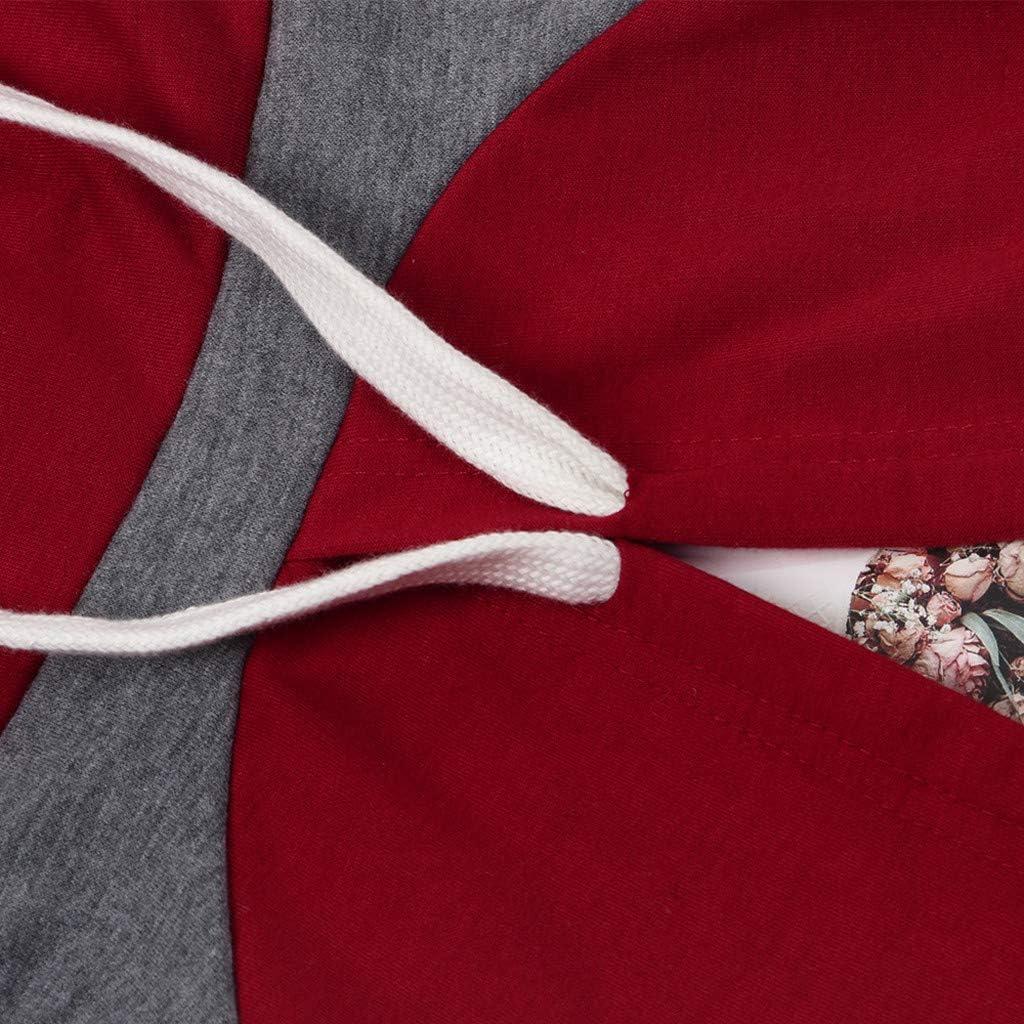 Lang Hose SASOFIA Sportanzug Zweiteiler Set Damen Trainingsanzug Einfarbige Hausanzug Sportswear Freizeitanzug Jogginganzug Lange /Ärmel Gestreift Kapuzenpullover