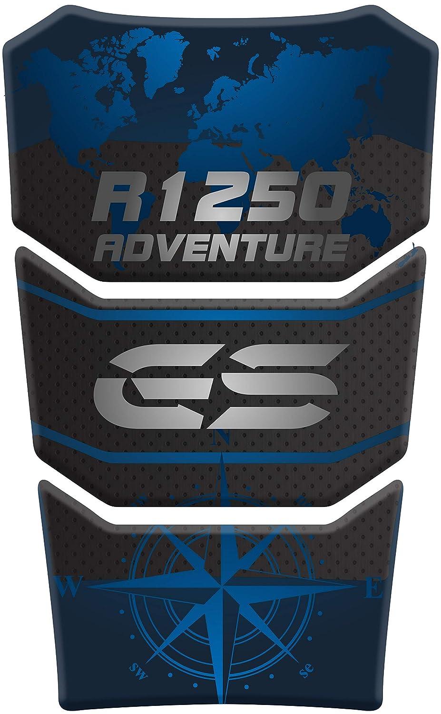 R 1250 Black//Red PARASERBATOIO ADESIVO RESINATO EFFETTO 3D compatibile con BMW R1250 GS ADV Adventure