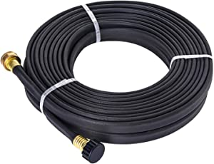 GREEN MOUNT GM04070M Garden PVC Flat Soaker Hose 1/2'' x 50 ft, More Water Leakage, Save Time, Brass Connector, Premium Heavy Duty Hose, Perfect for Flower Beds, Seedling