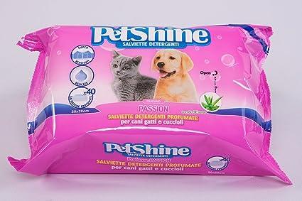Porrini 11-04230 Toallitas Higiene Perro y Gato, Pasión - 40 Unidades