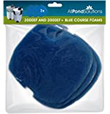 Replacement Coarse Foams fits All Pond Solutions 2000EF and 2000EF+ Aquarium External Fish Tank Filter - Pads Media