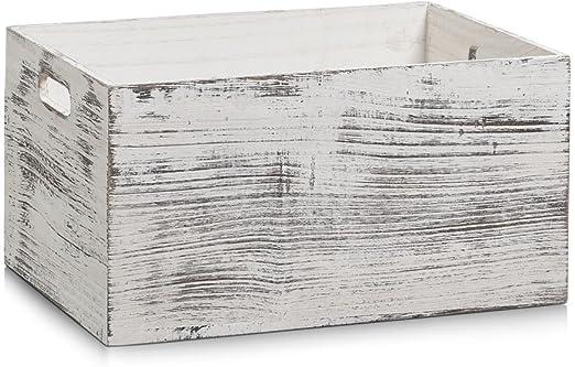 Zeller - Caja de almacenaje (Madera, 35 x 25 x 18 cm), diseño ...