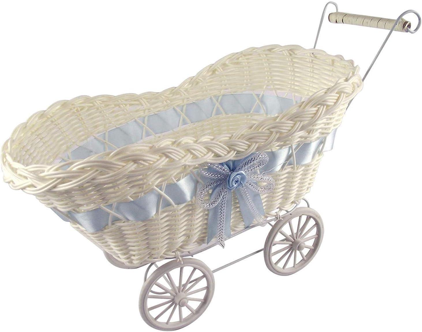 LOCASO Arazo Cesta de Mimbre Grande para Cochecito de beb/é