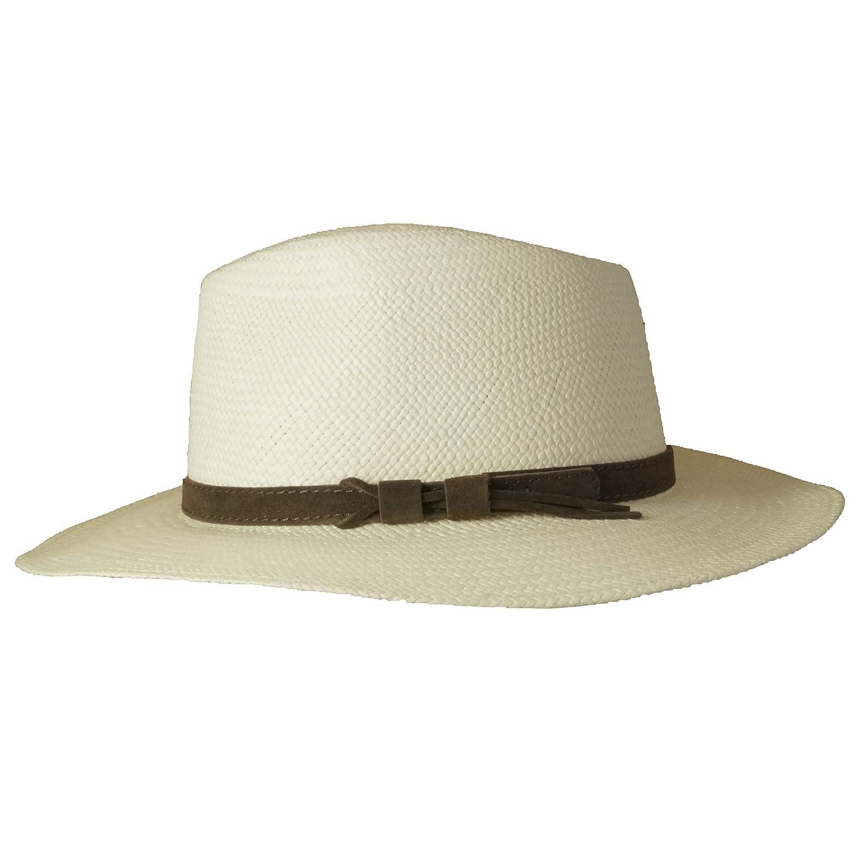 Wegener - Cappello Panama - Donna bianco Small  Amazon.it  Abbigliamento e74a5429dd88