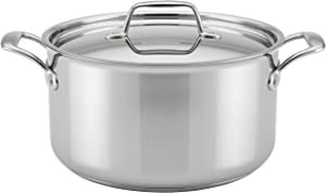 Breville Thermal Pro Stainless Steel Stock Pot/Stockpot with Lid, 8 Quart, Silver