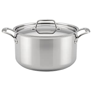 Breville Thermal Pro Clad Stainless Steel 8-Quart Covered Stockpot