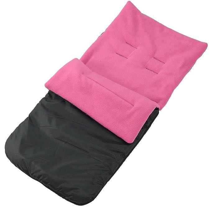 BuddyJet - Saco universal para sillas de paseo Silver Cross carrito de bebé cochecito BUGGY, color rosa oscuro: Amazon.es: Bebé