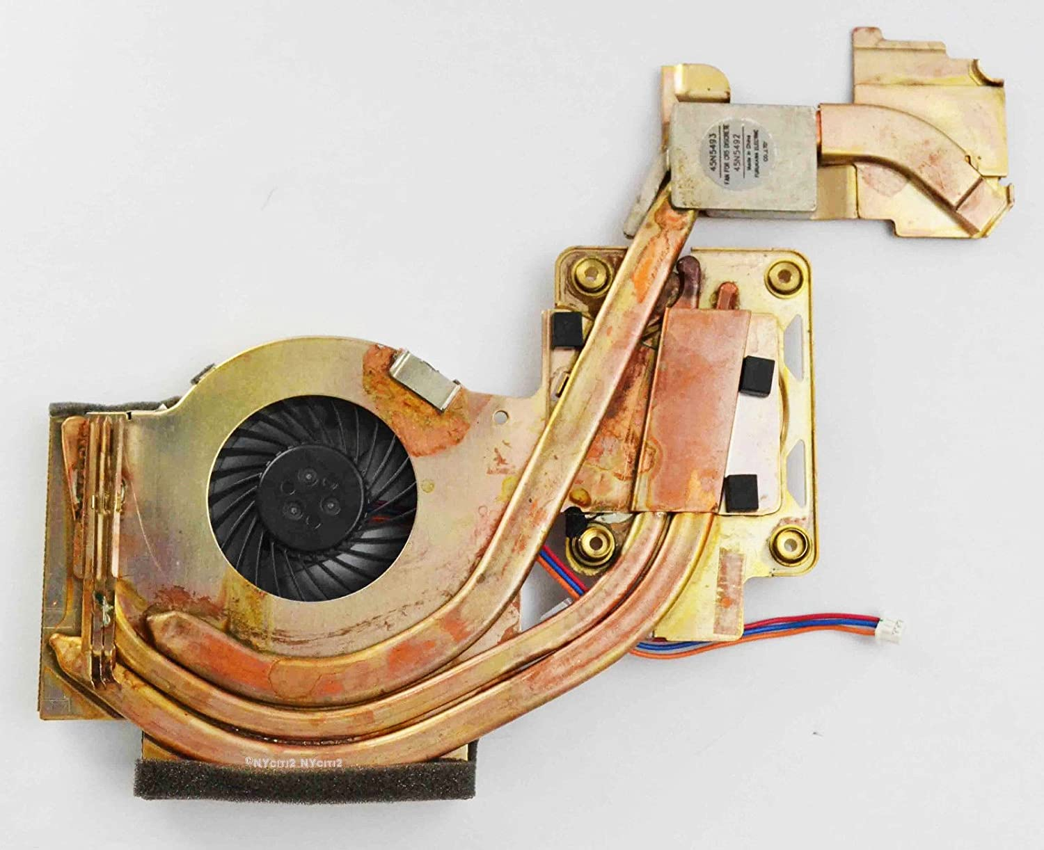 Simply Silver - New CPU Cooling Fan with Heatsink For IBM Lenovo W500 T500 45N5492 45N5493 - Unbranded