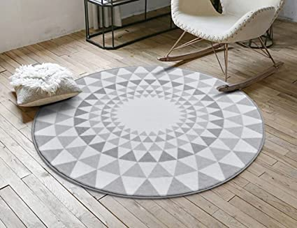 Subbye Tapis De Salon Tapis Rond A La Decoration Nordique Tapis