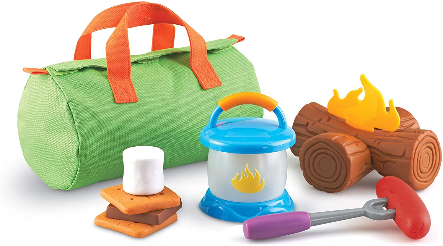 Learning Resources New Sprouts Camp Out!, Imaginative Play, Camping Toy, Outdoor Toys, 11 Pieces, Ages 2+: Toys & Games