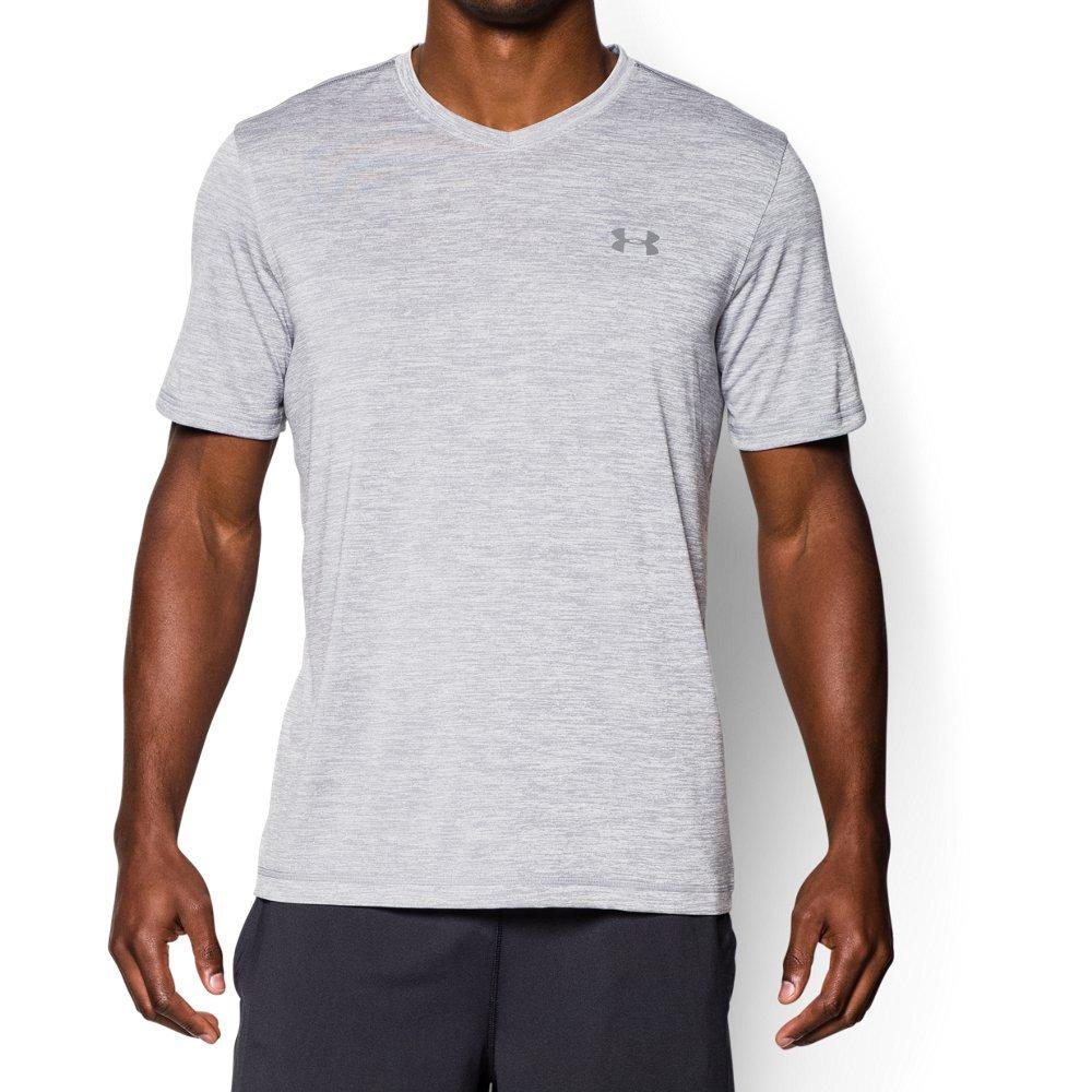 Under Armour Men's Tech V-Neck Short Sleeve T-Shirt, Steel/Graphite, Large