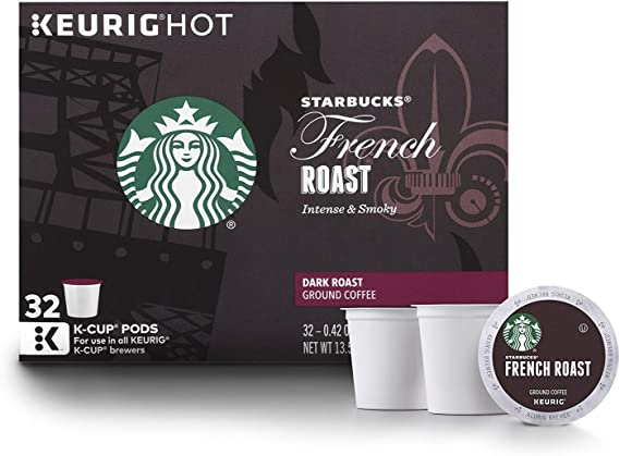 Starbucks French Roast Dark Roast Single Cup Coffee for Keurig Brewers