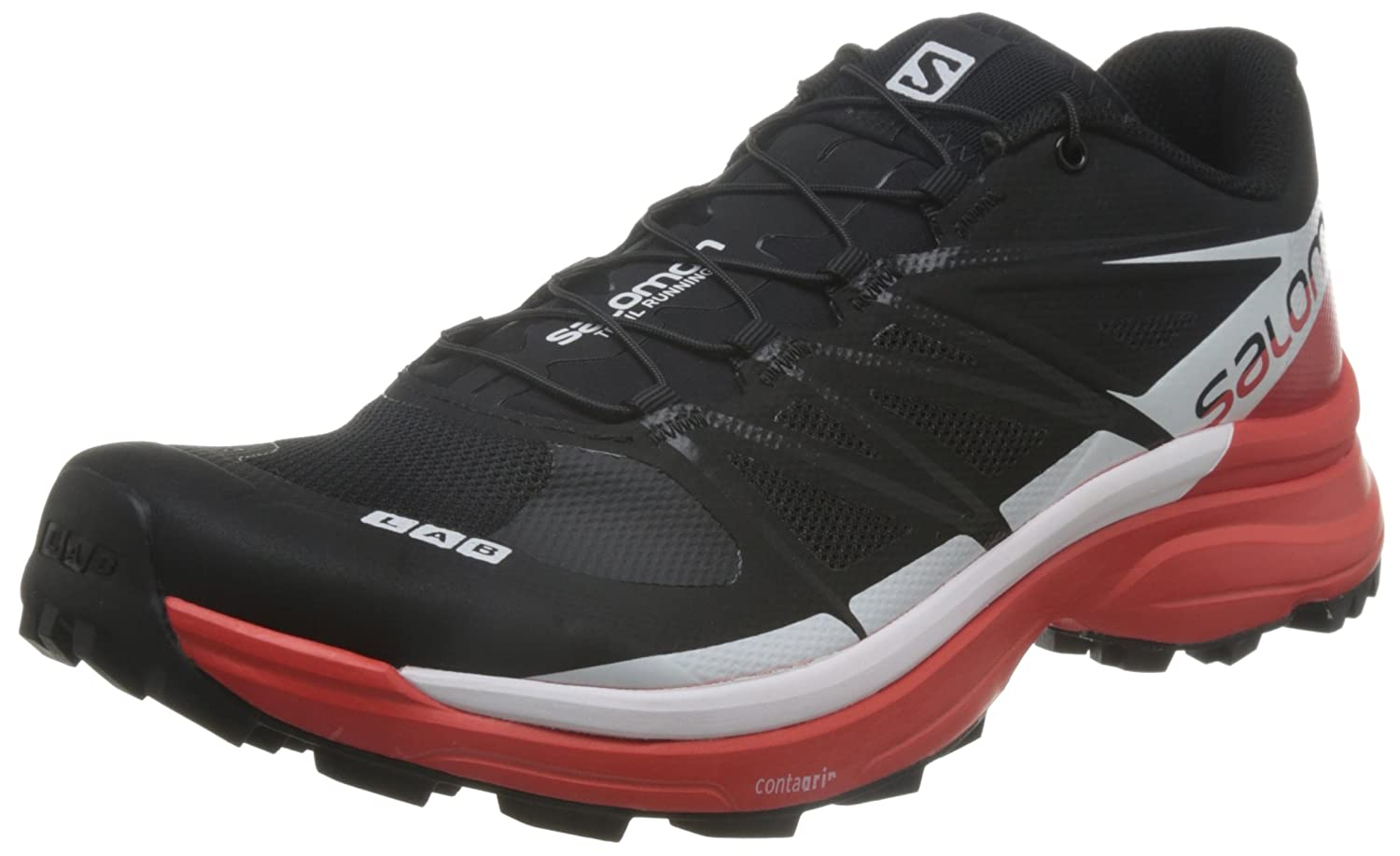 Salomon Unisex S-Lab Wings 8 SG Mesh, Textile Running Sneakers B017SRSI6K 11 M US Women / 10 M US Men|Black, Racing Red, White