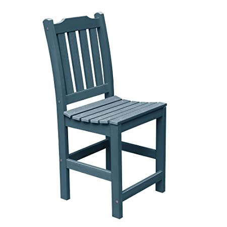 Highwood AD-CHCL1-NBE Lehigh Armless Counter Height Chair, Nantucket Blue