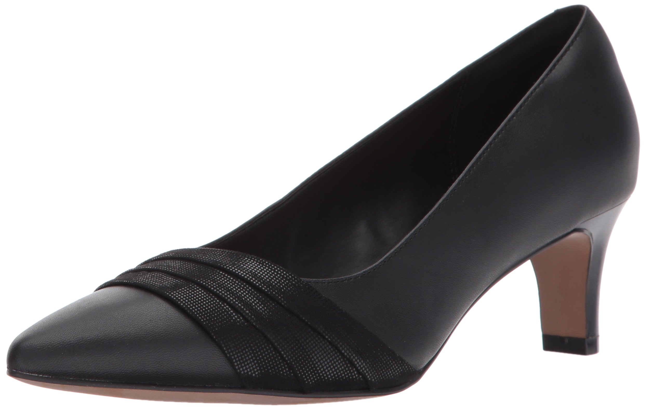 CLARKS Women's Crewso Madie Dress Pump, Black, 8 M US