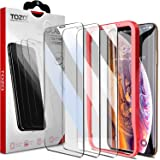 TOZO iPhone XS Max Screen Protector [3-Pack] Premium Tempered Glass [0.26mm] 9H Hardness 2.5D Film Super Easy Apply for iPhone XS Max 6.5 Inch (2018)