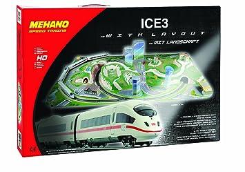 Mehano- Ice 3 - Juego de Tren con maqueta, Color Blanco y ...