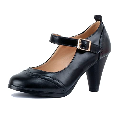Amazon.com: Guilty Shoes - Womens Mary Jane Oxford Kitten ...