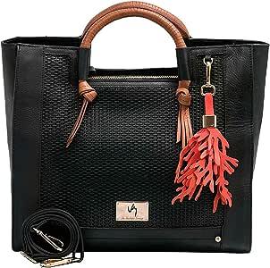 VELEZ 20666 Briefcase Organizer Women Handbag | Cartera de Cuero Black/Negro