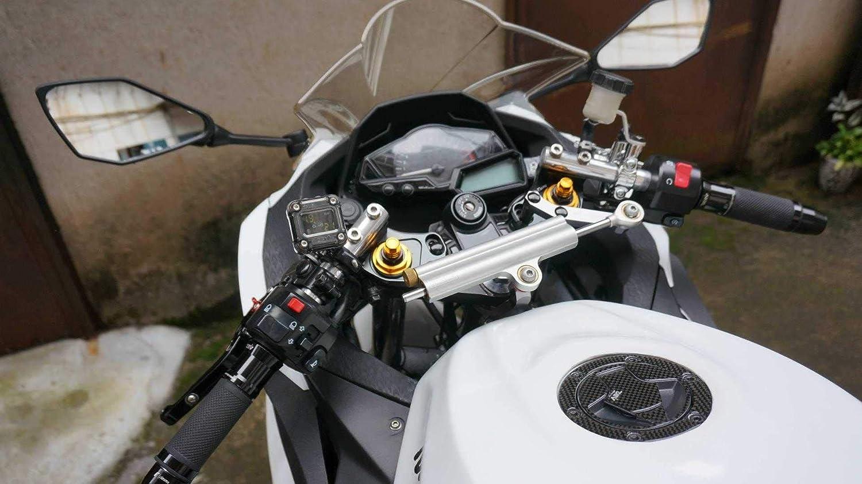 CNC Aluminum /Φ 37MM Clip ons Handlebar replacement Fit for Kawasaki Ninja 250R 2008-2012 Ninja 300 EX300 2013-2018,bars /Φ 7//8,37 mm Clip on Assembly Silver