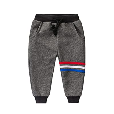 Boys or Girls Soft Cotton Sports Long Pants with Pockets
