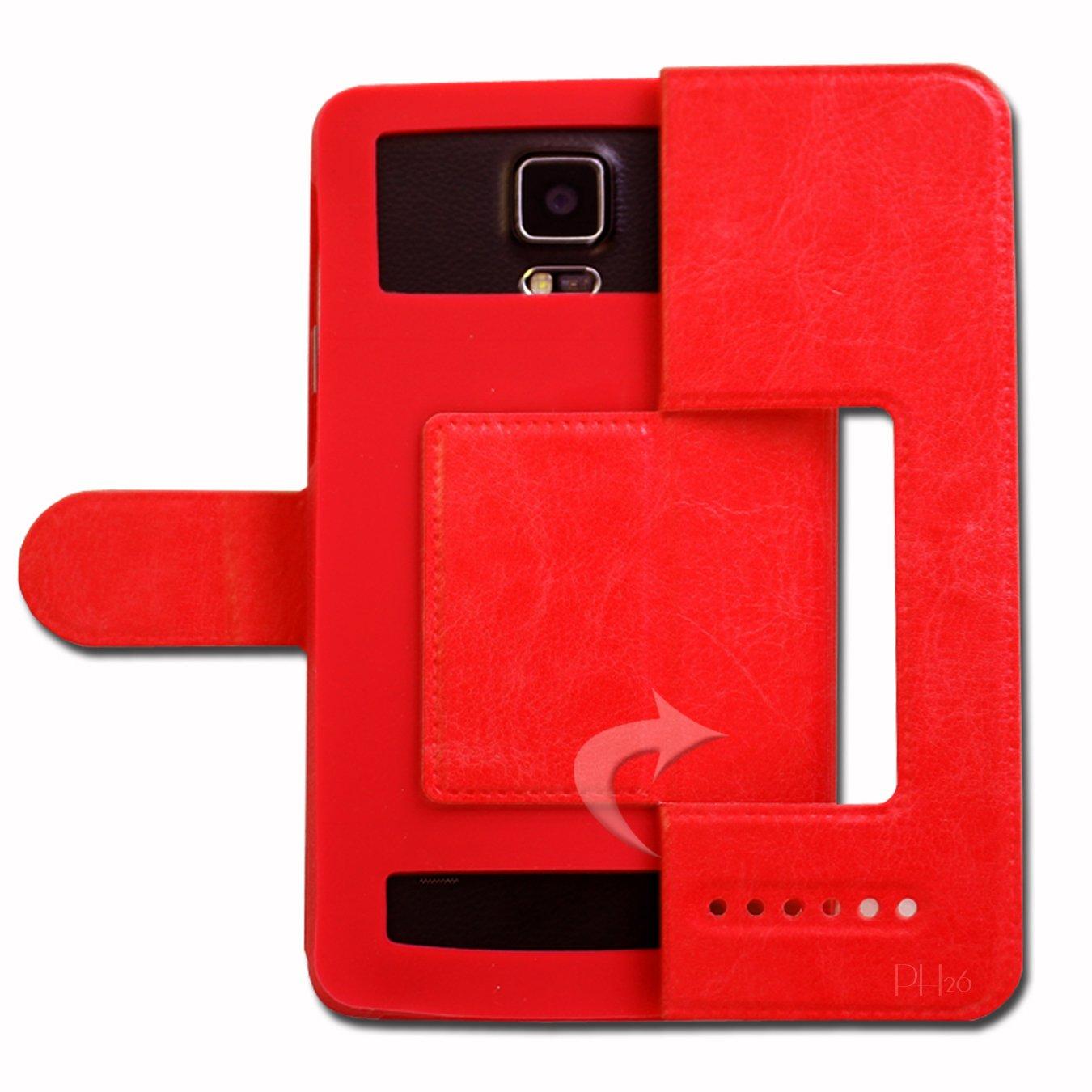 Ph26/® Thomson Friebdly TH101 Etui Housse Coque Folio rouge de qualit/é