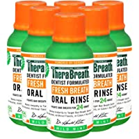TheraBreath Fresh Breath Dentist Formulated 24-Hour Oral Rinse, Mild Mint, 3 Ounce (Pack of 6)