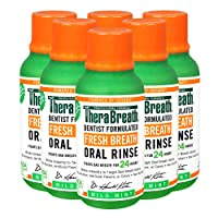 TheraBreath Fresh Breath Oral Rinse, Mild Mint, 3 Ounce Bottle (Pack of 6)