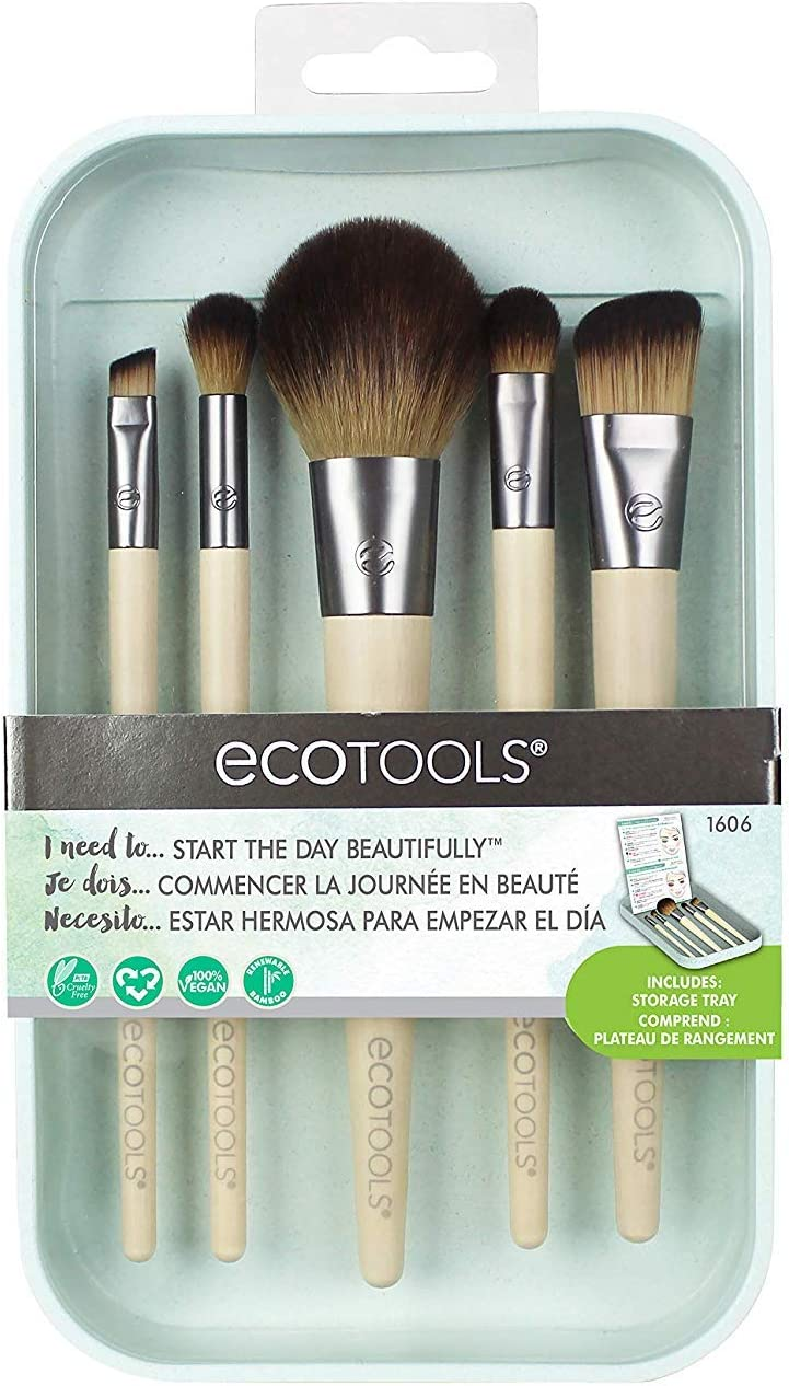 Ecotools 1606M Start the Day Beautifully Kit - Set de 5 Brochas, 21 g