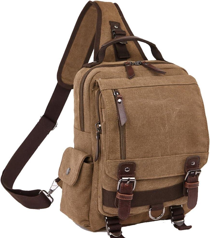 SymbolLife Shoulder bag slung chest pack OL unisex single back, small backpack slung dual