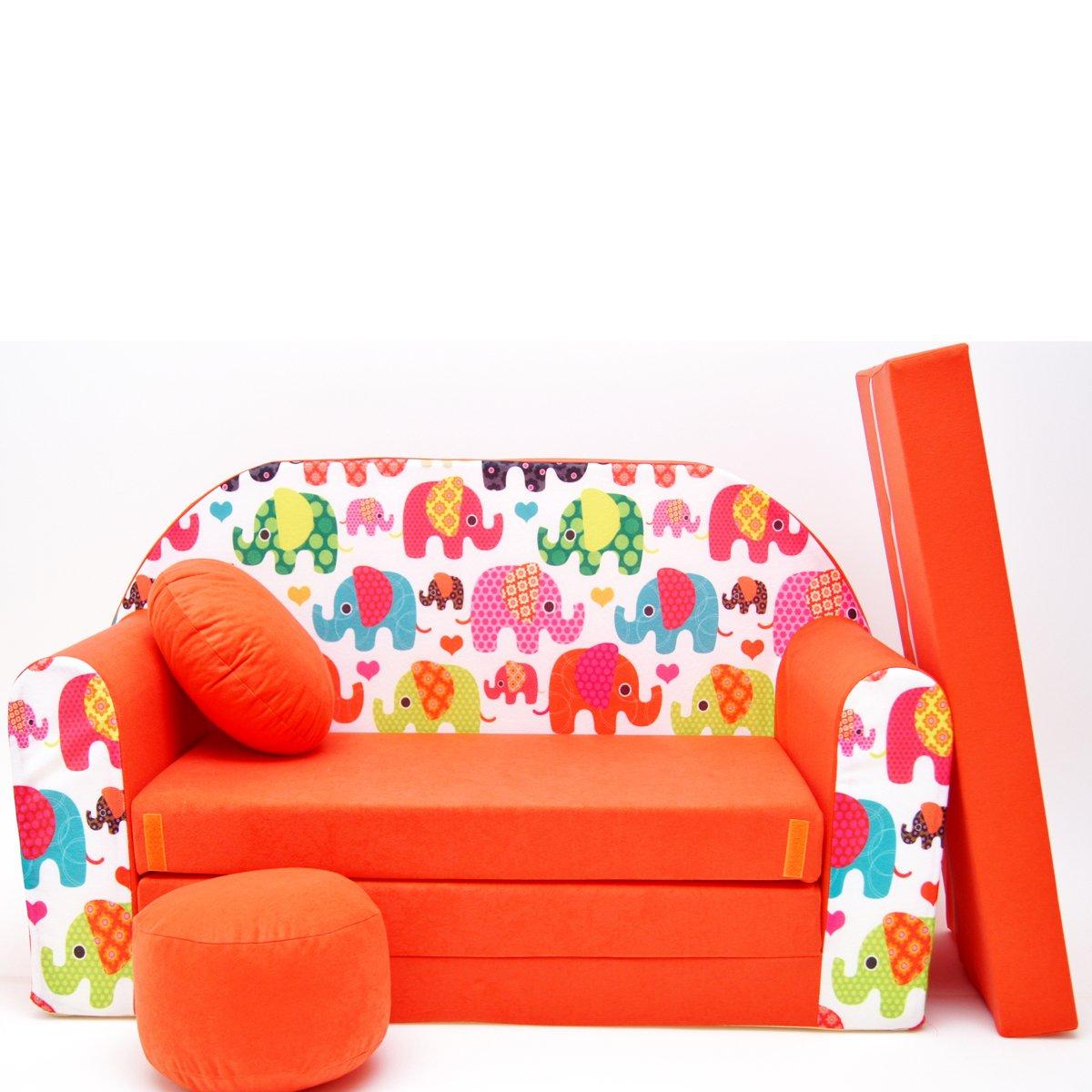 Kindersofa Spielsofa Minicouch aus Schaum Kindersessel Kissen Matratze Farbwahl 10