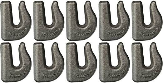 Set of 4 Grade 70 Weldable Grab Hook for 1//2 Chain Tow BA Products 11-12WGH-x4 Rigging Weld on