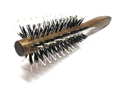 golddachs Cepillo de madera de haya, cepillo redondo con cerdas de jabalí 8 filas y