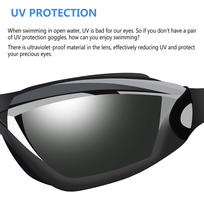 0cad927a717 Backever Swim Goggles