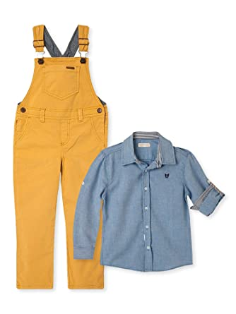 Amazon.com: OFFCORSS Toddler Boy Kid Infant Bib Matching Brother Twin Jean Denim Cotton Cute Long Overalls Shirt Set Overol para Niños Yellow 12 M: Clothing
