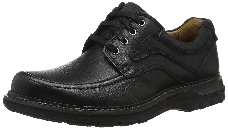 Schwarz(schwarz Leather) Clarks Herren Un Ramble Lace Derbys